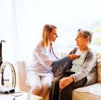 nurse with her patient
