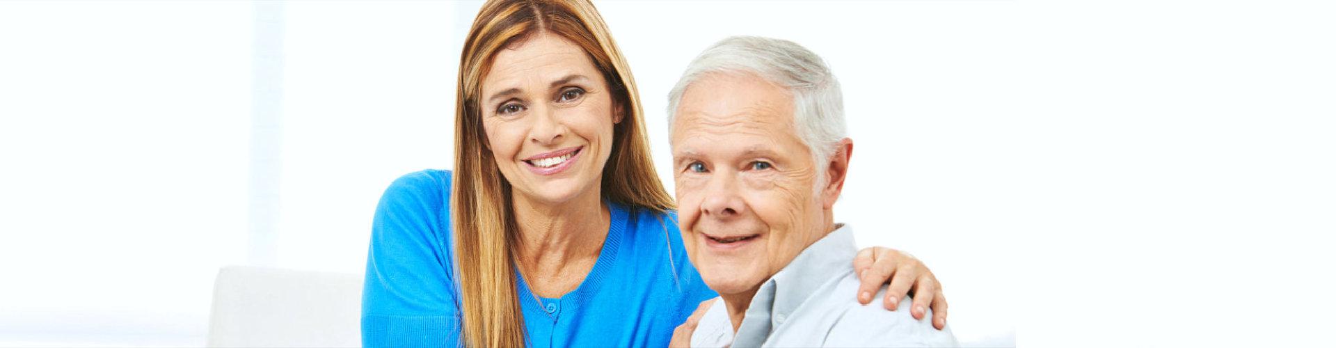 woman with senior man